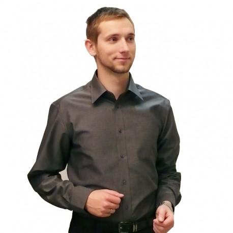 8dcb6d84f0b Šedá pánská košile 100 % bavlna slim fit Assante 30103