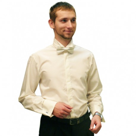 89f03a46ba7 Frakovka pánská košile 100 % bavlna non iron šampaň Assante 30208
