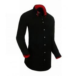 Černá pánská košile s dlouhým rukávem rovná Native 30801