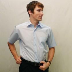 Modrá pánská košile s krátkým rukávem rovná Friends and Rebels 40401