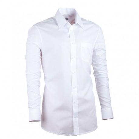 Pánská košile prodloužená bílá slim 100 % bavlna Assante 20003