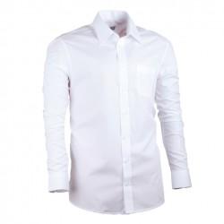 Pánská košile prodloužená bílá regular 100 % bavlna Assante 20004