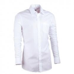 0c395409fa8 Pánská košile prodloužená bílá slim Assante 20005