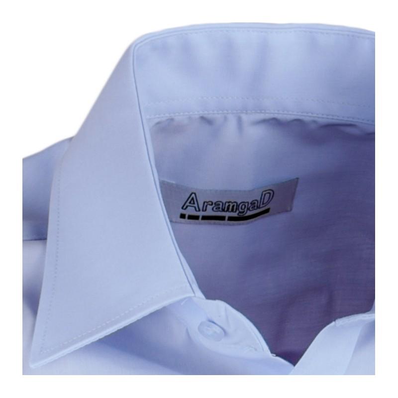 037eab4912d ... Modrá pánská košile s dlouhým rukávem slim fit Aramgad 30480 ...