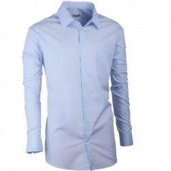 Modrá pánská košile s dlouhým rukávem rovná Aramgad 30481