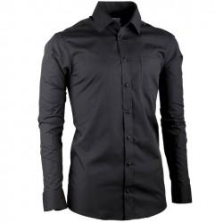 Černá pánská košile s dlouhým rukávem regular fit Aramgad 30181