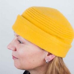Žlutá dámská elegantní čepice Tonak 87315