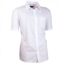 Bílá pánská košile slim fit 100 % bavlna non iron Assante 40006
