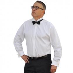 Frakovka prodloužená slim pánská bílá košile Aramgad 20006