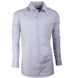 Pánská košile prodloužená světle šedá Assante 20104