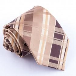 Pánská hnědá kravata klasická společenská Greg 92810