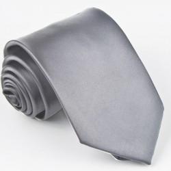 Jednobarevná šedá pánská kravata svatební Greg 99924