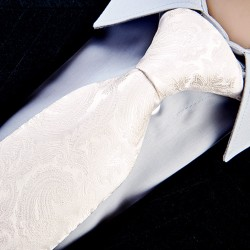 Svatební kravata šedobílá Greg 91113