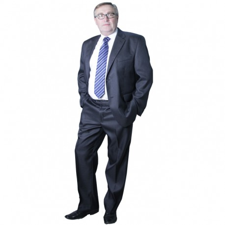 Šedý pánský oblek společenský na výšku 182 - 188 cm Galant 160606