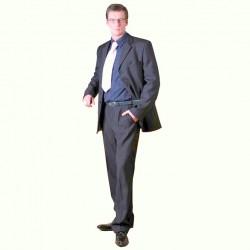 Šedý pánský oblek společenský na výšku 182 - 188 cm Galant 160602