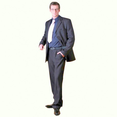 Šedý pánský oblek extra prodloužený na výšku 188 - 194 cm Galant 160603