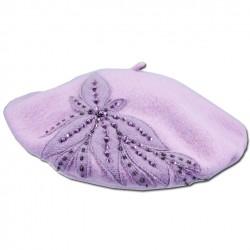 Růžový dámský baret luxusní Tonak 87297