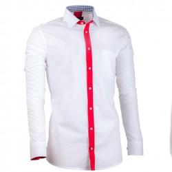e433ddfbbc5 Prodloužená pánská košile bílá slim fit Assante 20715