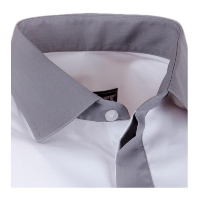 974fd439f9b5 Bílá pánská košile s dlouhým rukávem slim fit Assante 30691