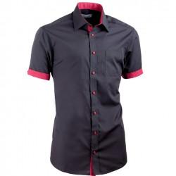 Černá košile Aramgad kombinovaná vypasovaná 40141