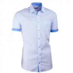 Modrá košile Aramgad kombinovaná vypasovaná 40436