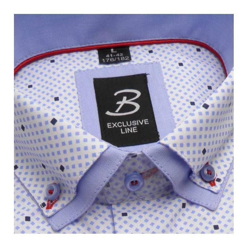 881cbf629b8b Bílá pánská košile dlouhý rukáv vypasovaný střih Brighton 109963