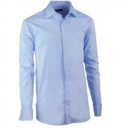 9639c70ceff1 Košile na manžetový knoflíček regular blankytně modrá Assante 30422
