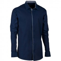 Luxusní pánská košile modrá indigo rovná Assante 30428