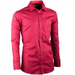 Bordó prodloužená slim fit pánská košile Aramgad 20307