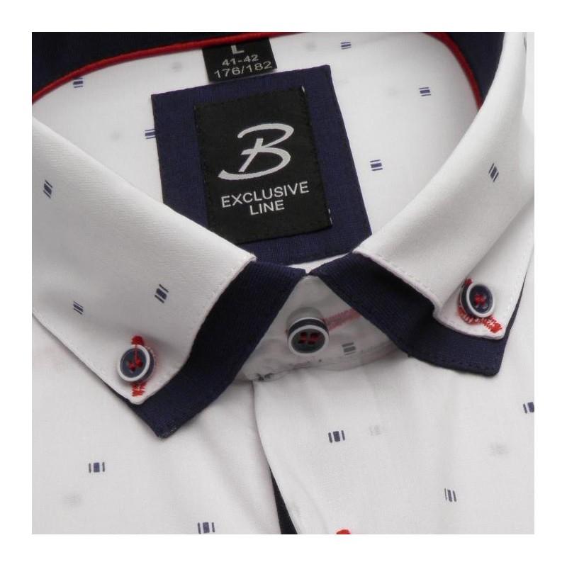 58f55c87b241 Bílá pánská košile dlouhý rukáv s dvojitým límcem Brighton 109968