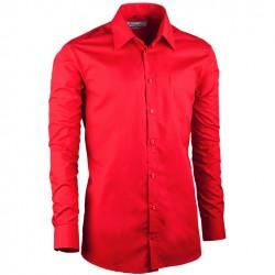 Červená á pánská košile s dlouhým rukávem slim fit Aramgad 30384