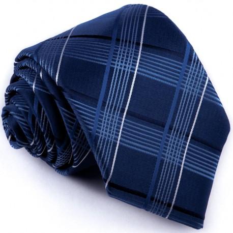 Kravata modrá károvaná Greg 94268