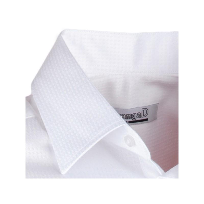 ea6c9a4ed09 Pánská svatební košile bílá vypasovaná slim fit Aramgad 30046