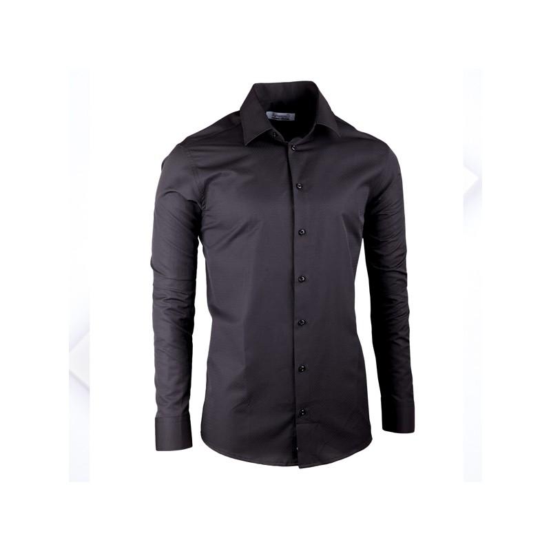 b4b0a19b5cb Černá elegantní košile vypasovaná slim fit Aramgad 30139