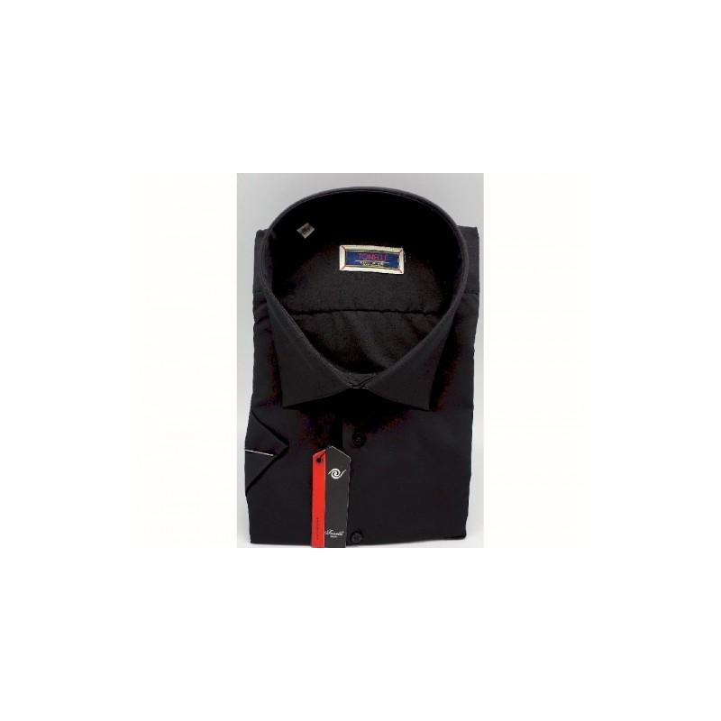 cec57d637b0 ... Černá pánské košile nadměrná velikost dlouhý rukáv Tonelli 110811 ...