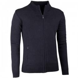 Černý pánský svetr na zip Assante 51012