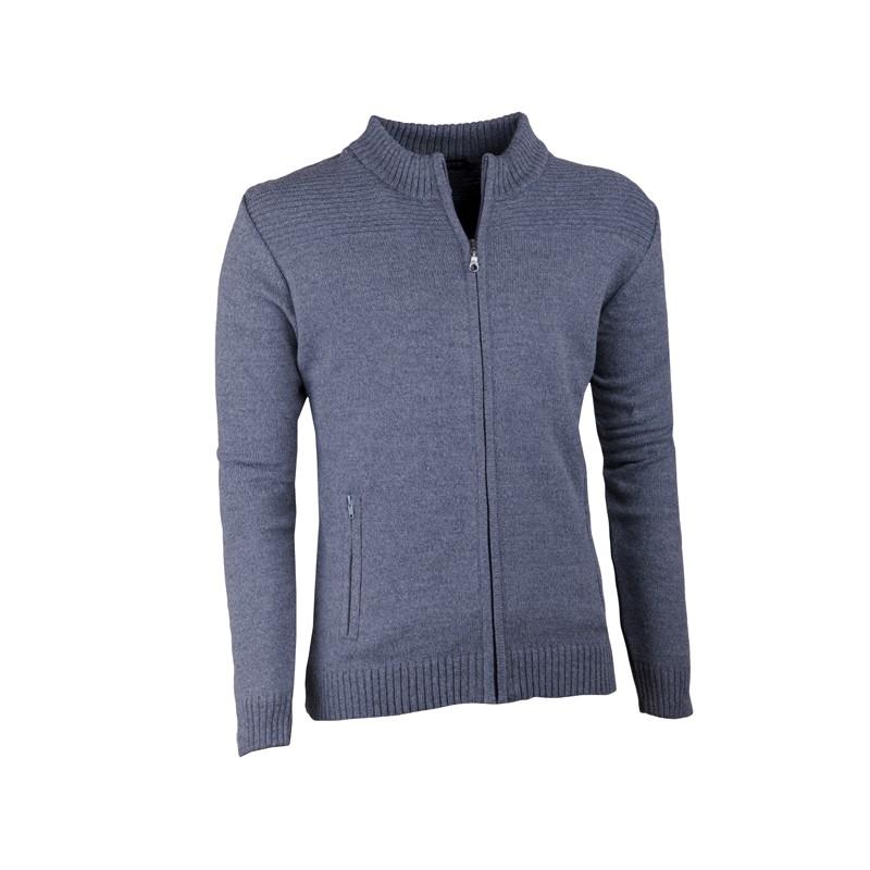 Šedý pánský svetr na zip Assante 51013 e0c134a668