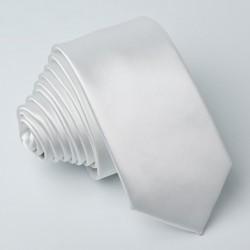 Bílá kravata jednobarevná Greg 99910