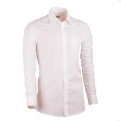 Extra prodloužená pánská košile slim fit šampaň Assante 20214