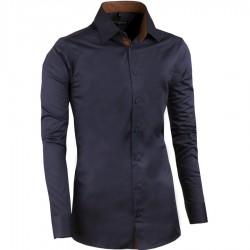 Modrá nadměrná pánská košile rovná Assante 31041