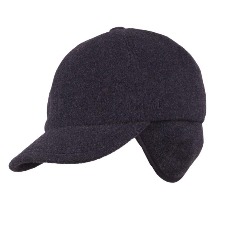 166d85d80 Pánská zimní šedá čepice s naušníky Assante 85315