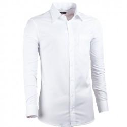 Bílá pánská košile slim fit XS Assante 30004