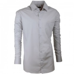 Prodloužená pánská košile slim šedá Assante 20115