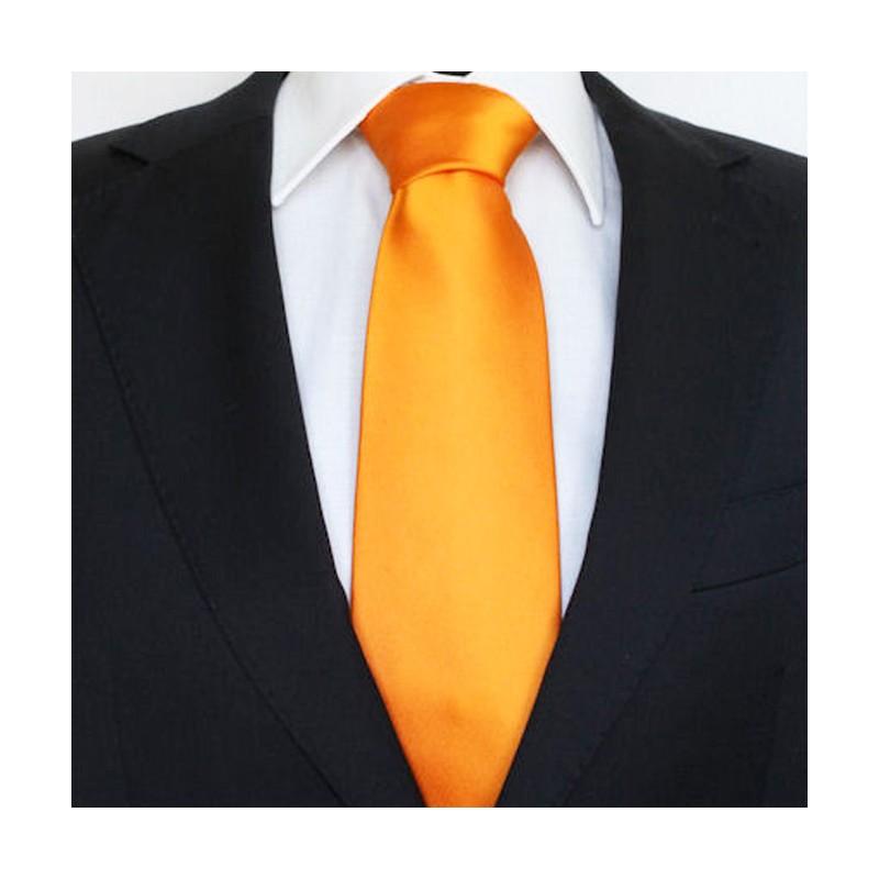 afae4d066fc Pánská kravata slim oranžová Greg 99171