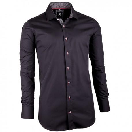 e4be095116d Černá pánská košile slim fit 100 % bavlna Brighton 109949