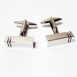 Manžetové knoflíčky stříbrné barvy Assante 90503