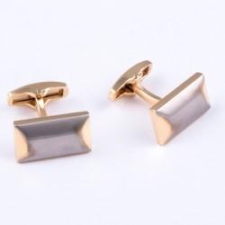 Manžetové knoflíčky zlatostříbrné barvy Assante 90531