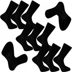 Multipack ponožky 9 párů černé froté chodidlo antibakteriál Assante 742