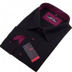 Černá pánská košile nadměr dlouhý rukáv rovný střih Native 120501
