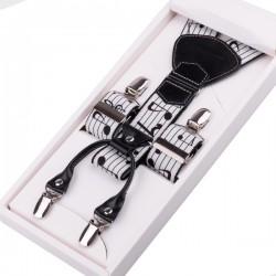 Luxusní hudební kšandy bílé s notou Assante 90000